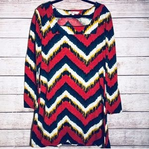 Anthropologie Aryeh Ikat Multicolor Sweater Dress